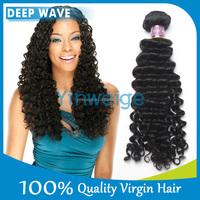 top 100% human deep wave brazilian hair weft, unprocessed 5a grade wholesale brazilian hair