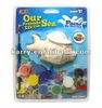 DIY ceramic paint fish toy ---- christmas gift for kids