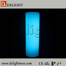 China supplier light up RGB remote control rechargeable decorative lighted columns for weddings