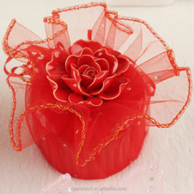 drawstring round organza wraps for candy packaging