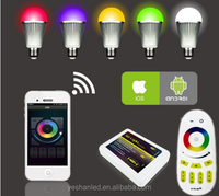 Newest Hot seller Smart home light 10W RGBW wifi led bulb(30m distance control)