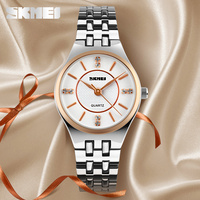 lady japan movt back stainless steel watch