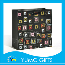 custom fashionable creation design black paper birthday packing bag