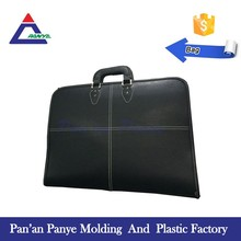 Free Sample 51*41cm black leather artist briefcase