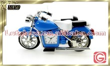 Colorful zinc alloy Motorcycle shaped desk top clock