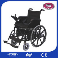 Best folding power electric wheelchair/golden motor power wheelchairs/hospital use steel powered wheelchairs