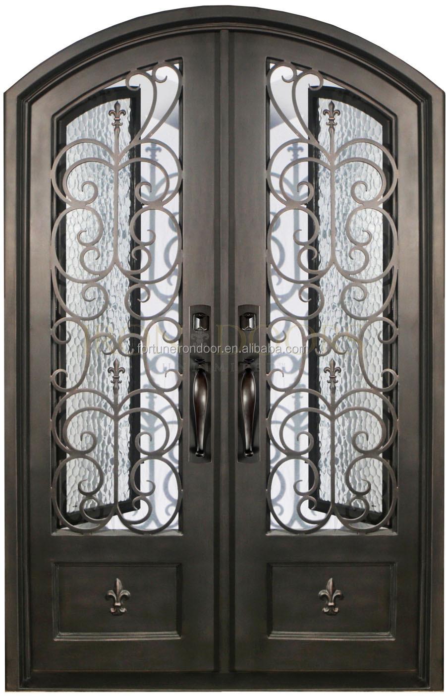 Puertas Hierro Forjado Exterior Simple Puertas Dobles En Hierro  ~ Puertas Hierro Exterior Fachadas