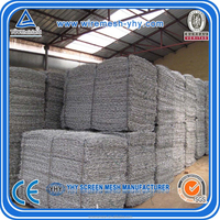 factory products hexagonal mesh fabric for gabion box