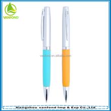 Customized Logo office roller pen/ silica gel pen/silicon metal pen