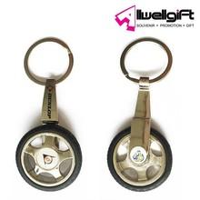 rubbuer metal 3D custom tire keychain Promotional Car Wheels Tyre Keychain