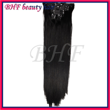 BHF Clip In Virgin Brazilian Straight Hair Clip In Human Hair Extensions 10pcs/set Natural Color Clip In Hair Extension 100g/set