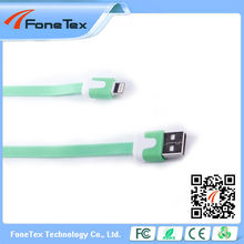 Noodle Style USB Data Sync Charger Cable for iPhone 5 6, for ipad5 , Length: Length: 1m (red)