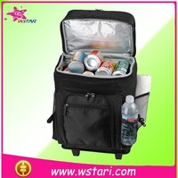 6 bottle wine cooler bag, olley wheeled roller practical wholesale high quality insulated cooler bag
