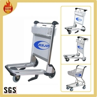 China 250kg load bearing push aluminium hand airport cart