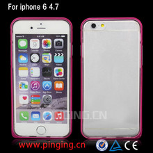 China supplier hybrid bumper case for iphone 6 plus 6 5s 5c 4s