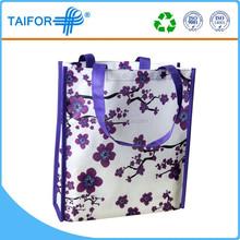 High quality company supplier reusable vinyl tote shopping bag