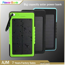 portable power bank solar panel 5000mah solar power bank,waterproof power bank