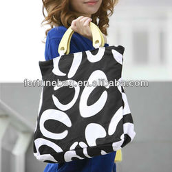 Fashion and big-capacity canvas craft tote bags