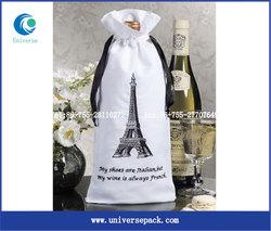 jute wine tote bag