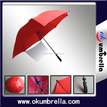 28 inches 8 ribs 2015 New Double Canopy Full Imprint Straight Golf Umbrella
