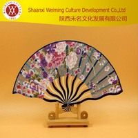 Ms silk bamboo craft dance fan Luxurious Silk Fold hand Fan in ( Available in various colors) +wedding Gift