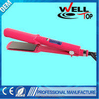 Wholesale manufacture professional ceramic hair straighter iron with Lcd display to care you hair as seen as on TV