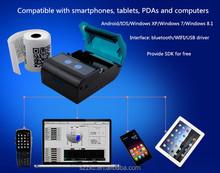 58mm Mini bluetooth Mobile Thermal Printer Line Printing For Restaurant Food order