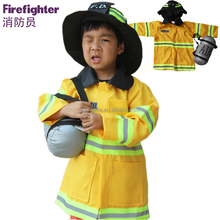 Hot selling firefighter fancy dress costumes for children