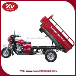 Economical 150cc/200cc/250cc cargo three wheel motorcycle/cargo tricycle with head cover