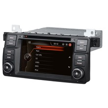 car dvd gps navigation system for bmw e46 car multimedia system with bluetooth HD video SWC radio DIY