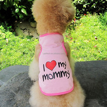 New 2015 Pink Cute Pet Dog Clothes Puppy Love Heart Printing Vest Clothes xxxs dog clothes