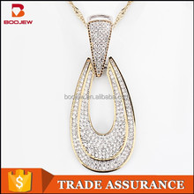Dubai jewelry, platinum plated sterling silver pendant, gems and meticulous quality direct wholesale 925 silver pendant