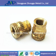 China factory Plastic threaded molded-in Brass Insert low price M3