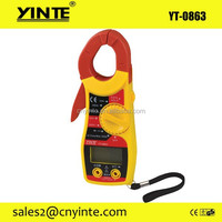 YT-0863 Large Display Electronic Ohms Volt Meter Digital Clamp Meter