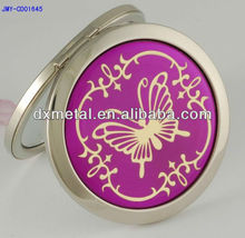 fahsion butterfly cosmetic compact travel handbag pocket folding makeup mirror