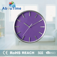 Grandfather fluorescent floor metal wall clock for promotion
