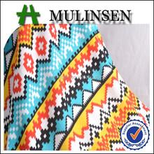Mulinsen têxtil cashmere escovado impresso geometria abstrata projeto