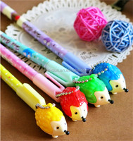 120pcs Black Refill Hedgehog Gel Ink Pen Mix Styles Pendant Pens Stationery Office/School Supplies DHL Freeshipping