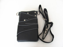 Black Leather Rivet Scissors Clips Bag Hairdressing Holster Pouch Holder Case