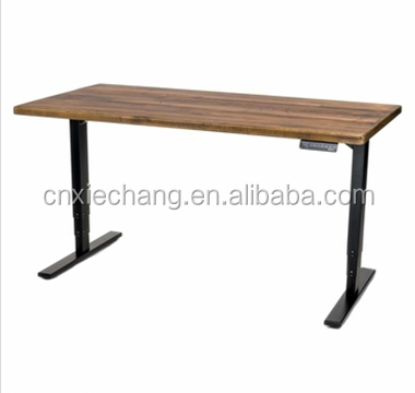 Metal modern design height adjustable office desk & standing table