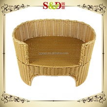 Comfortable Round Rattan Washable Dog Cool House Soft Bed Pet Kennels
