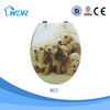 Clean sanitary bathroom wares poly resin animal toilet seat cover