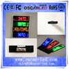 2015 new p2 single color electronic small led screen chest card/ led digital mini name badge display name tag badge