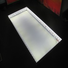 LED module edge lit pack for aluminum frame