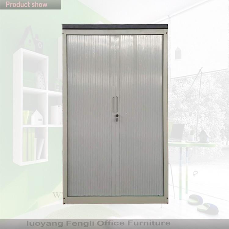 China Supplier Plastic Roller Shutter Door Cabinet / Office Steel Filing Cabinet  Tambour Cabinet