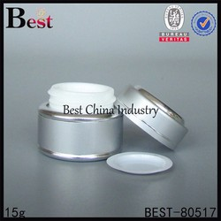 cosmetic glass jar with glass body inside with high quality, cosmetic glass jar wholesale in shanghai china and other country