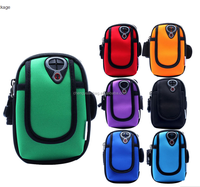 Double Pockets Mobile Arm Band Sport Bag Case for Cell Phone MP3 Key Bike