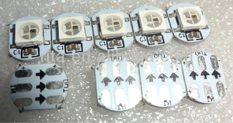 Ws2812b led con dissipatore( 10mm*3mm); dc5v ingresso; 5050 rgb smd con ws2811 ic built- in
