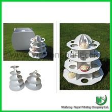 white plain cupcake stand