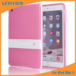 LETSVIEW Premium Durable Ultra Thin Soft Crystal Clear TPU Back Cover Cases for Ipad Mini 1/2/3 Luxury Screen Guard Protector